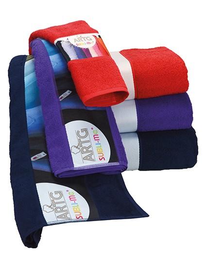 Premium Handtuch inkl. bedruckbarer Bordüre - Druck, Vollfarbdruck
