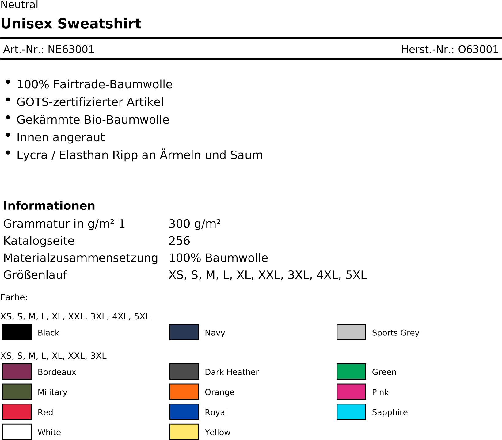 Unisex-Sweatshirt-Ne63001
