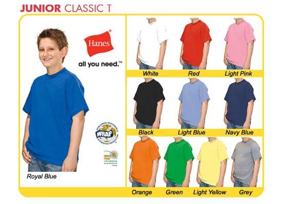 Kinder T-Shirt Kids Shirt unbedruckt Hanes navy dunkelblau