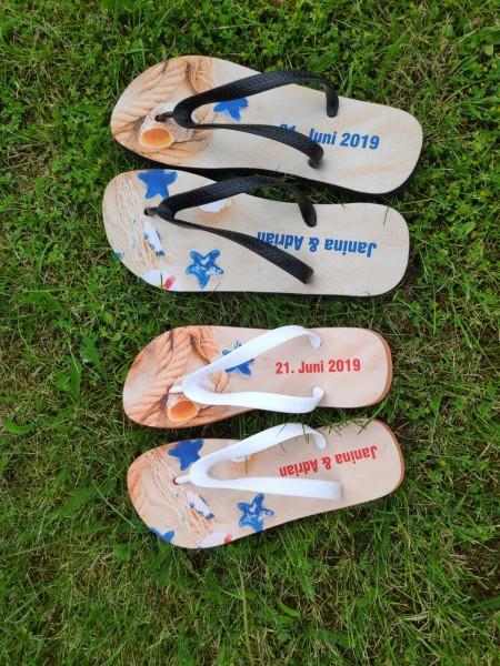 Flip Flops bedruckt nach Vorlage Flipflops Schuhe Sommerschuhe