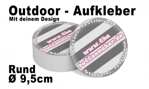 Outdoor-Aufkleber Rund Ø 9,5 cm